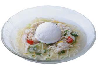 超涼風麺 ~鶏白湯アイスのせ~