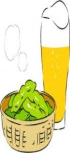 1606ビールと枝豆